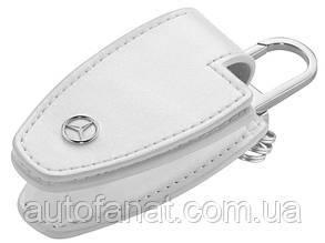 Оригинальный кожаный футляр для ключей Mercedes-Benz Key Wallet Gen.5, White (B66958405)