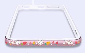 "Металлический бампер Lofter Cutie Series для Apple iPhone 6/6s (4.7"") (Зайчик)"