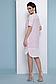 Прямое летнее платье с коротким рукавом лен + прошва 070, фото 2