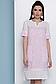 Прямое летнее платье с коротким рукавом лен + прошва 070, фото 5