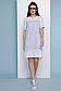 Прямое летнее платье с коротким рукавом лен + прошва 070, фото 6