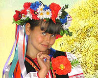 Венок к костюму Украиночки с лентами для девочки