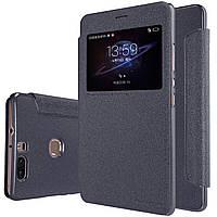 Кожаный чехол (книжка) Nillkin Sparkle Series для Huawei Honor V8 (Черный)