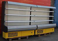 Холодильная горка (Регал) «Росс Modena» линия 3.9 м. (Украина), прозрачные боковые стекла, Б/у , фото 1