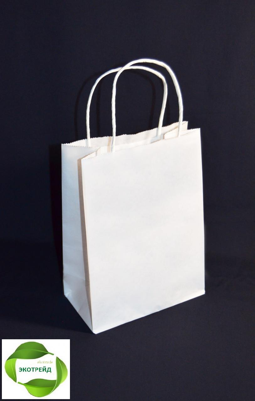 Бумажный пакет с ручками 170х90х230 (белый)