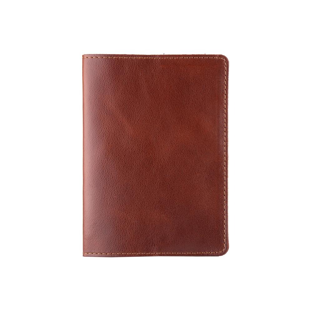 Кожаная обложка для паспорта конячного цвета