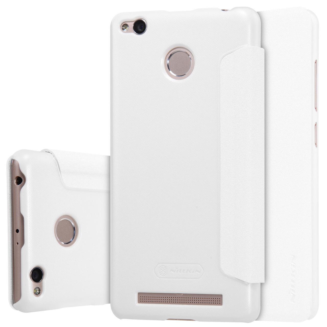 Кожаный чехол (книжка) Nillkin Sparkle Series для Xiaomi Redmi 3 Pro / Redmi 3s