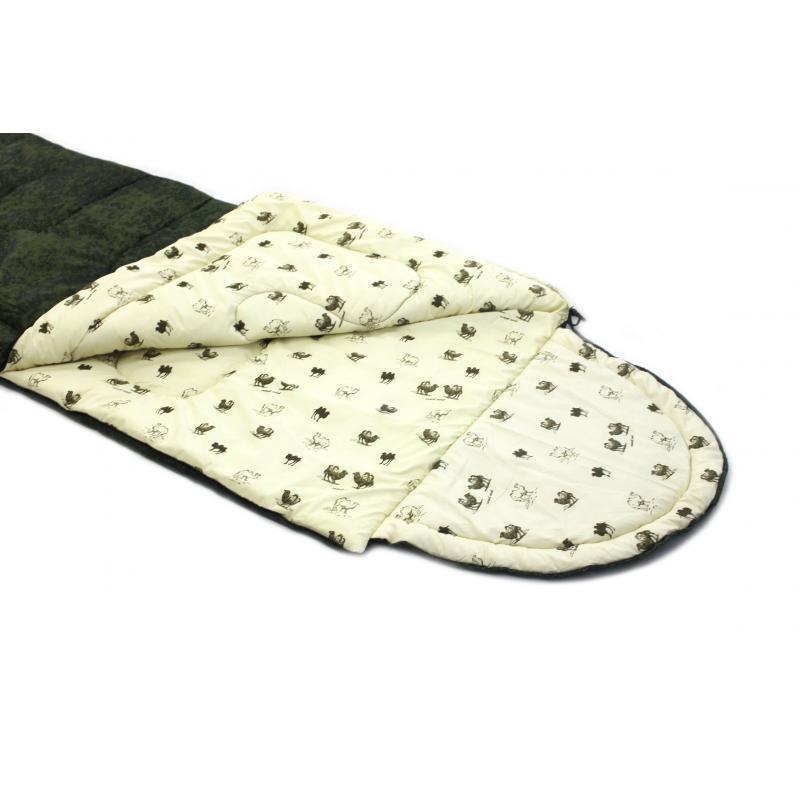 """⭐ Спальный мешок (-5 °C) """"Balmax (Аляска) Standart series"""", одеяло с подголовником (однотонный)"""