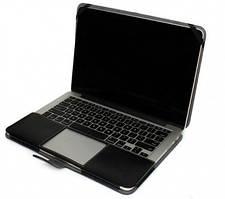 Кожаный чехол-книжка TTX для Apple MacBook 12 (Черный)