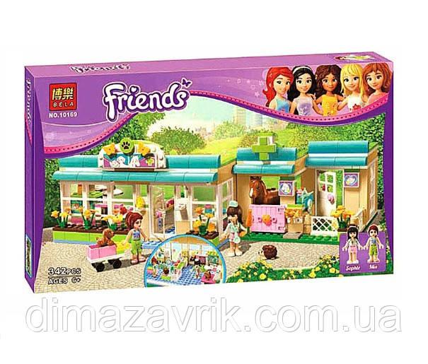 """Конструктор Bela 10169 (Аналог Lego Friends 3188) """"Клиника для животных""""342 детали"""