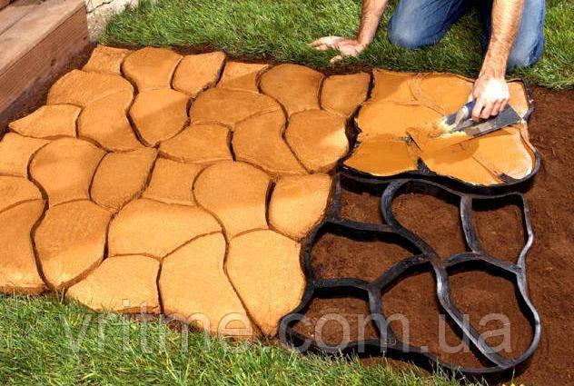 """Пластикова форма для виготовлення тротуарної доріжки - """"Садова доріжка 60*50 см"""""""