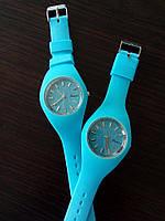 """Наручные силиконовые часы """"Timer"""" голубой"""