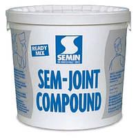 Готовая полимерная финишпаста для заделки стыков ГКЛ и финишной отделки SEMIN SEM-JOINT COMPOUND (25кг)