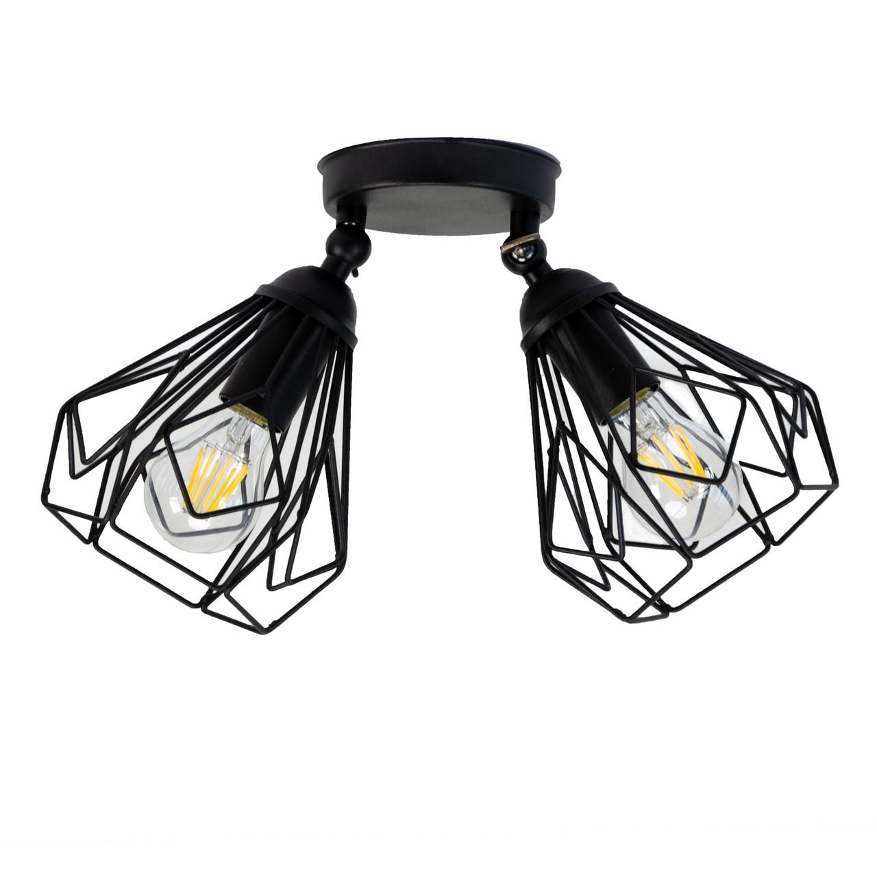 Светильник потолочный Atmolight Bevel L165-2 Черный (1333)