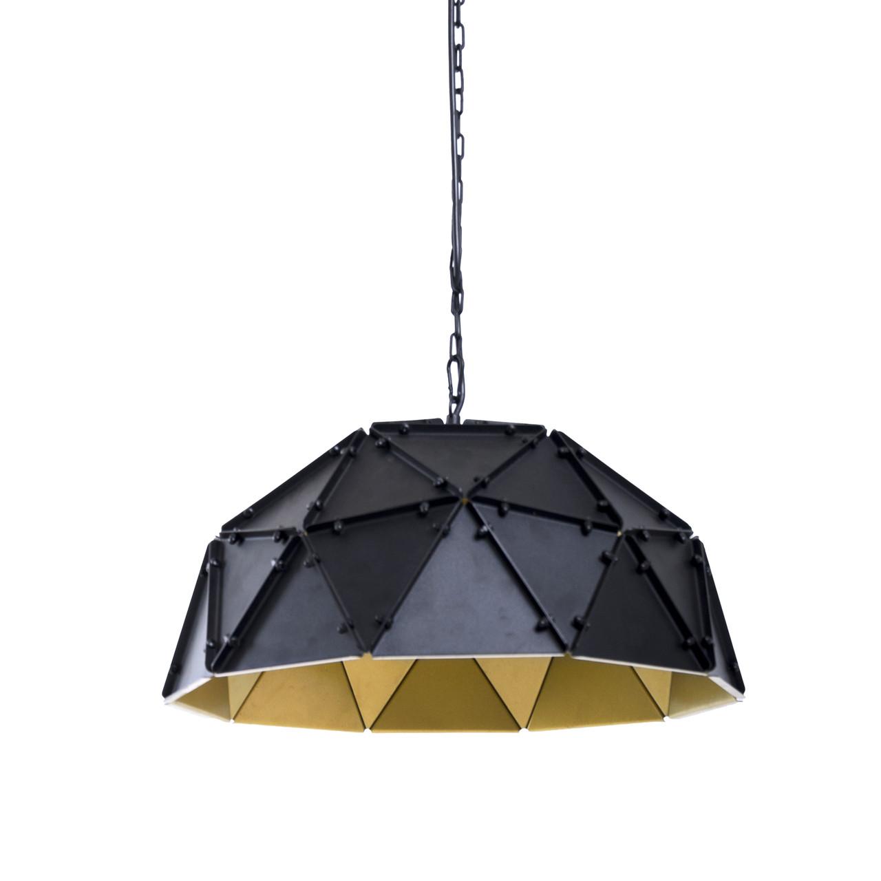 Светильник подвесной Atmolight Roanne P46 Черный с золотом (1404)