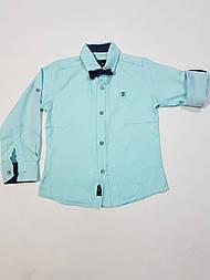 Рубашка на мальчика с бабочкой  3, 4, 5 лет