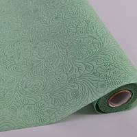 Фетр флизелин с тиснением темно зеленый  Все для флористики и декора в Херсоне