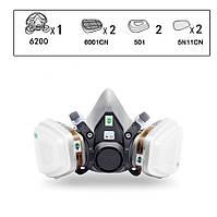 3М 6200 (М)  Маска Резиновая в Сборе с Угольным Фильтром Защитная Полумаска от Пыли