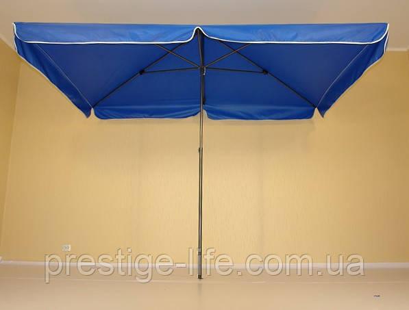 Пляжный, садовой, торговый Зонт 2х3 м, с клапаном. Серебренное покрытие. Синий