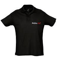 Babyliss Promo рубашка POLO мужская черная короткие рукава, размер XXL