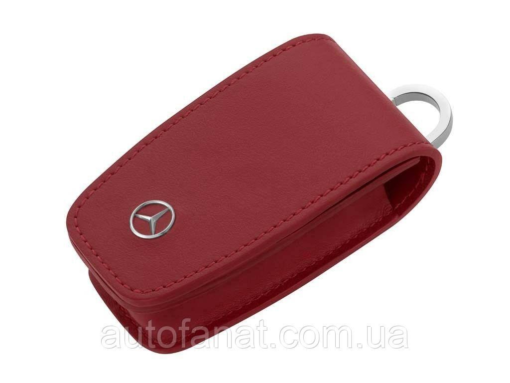Оригинальный кожаный футляр для ключей Mercedes-Benz Key Wallet, Gen. 6, Red (B66958410)