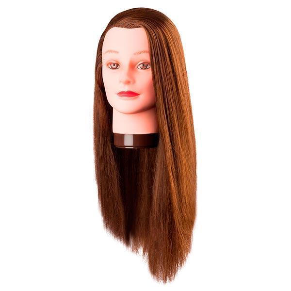"""Comair Болванка жен. ШАТЕН """"PIA"""", длина волос 60 см. 100% протеиновые волосы"""