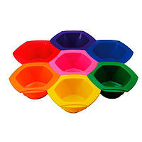 "Comair Набор чаш для покраски ""RAINBOW"" трансформер 7 цветов уп. 7 шт."