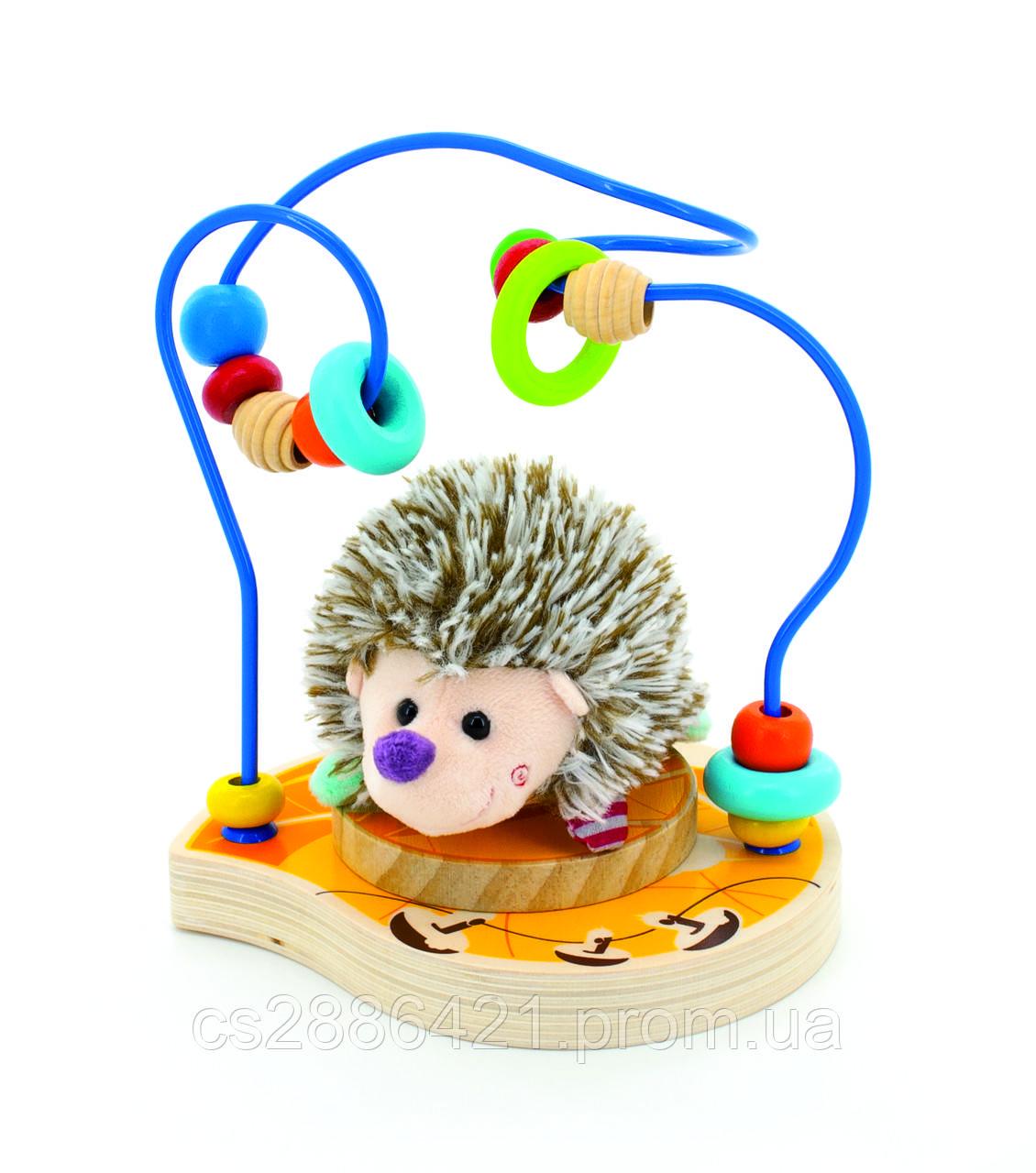 Деревянная игрушка Лабирин-Ежик (Д385)