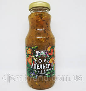 Соус ТМ Дніпро Апельсин с травами 315 г.
