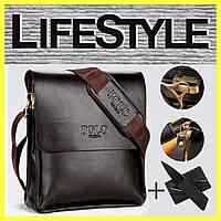 Стильная мужская сумка Polo Videng + Подарок