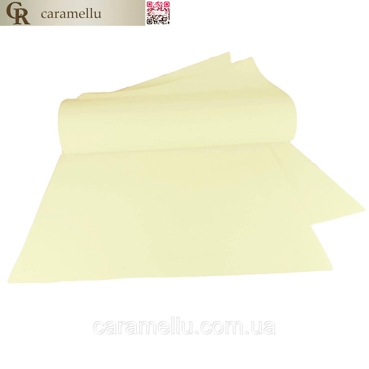 Фоамиран иранский 107, Светло-лимонный, 1мм, 70х30см.
