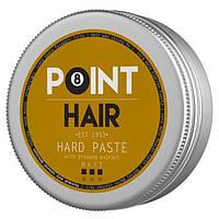 POINT BARBER HAIR HARD PASTE Матовая паста сильной фиксации, 100 мл.