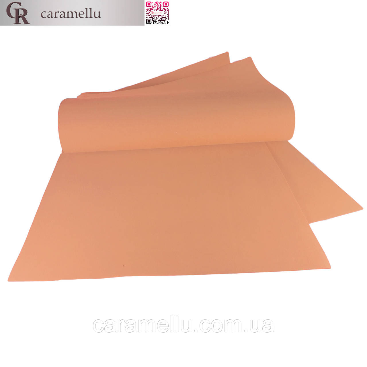 Фоамиран иранский 138, Коралл, 1мм, 70х60см.