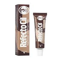 """Refectocil № 3 краска для бровей и ресниц цвет """"Натуральный Коричневый"""", тюбик 15 мл"""