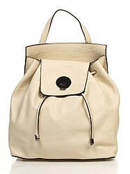 Кожаная сумка Genuine Leather Рюкзак Genuine Leather 6202_beige Кожаный Бежевый