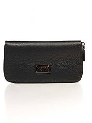 Кожаная сумка Genuine Leather Кошелек Genuine Leather 1640_black Кожаный Черный