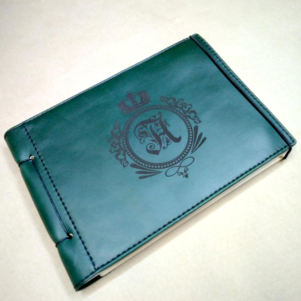 Кожаный блокнот M. Блокнот с кожаной обложкой А5