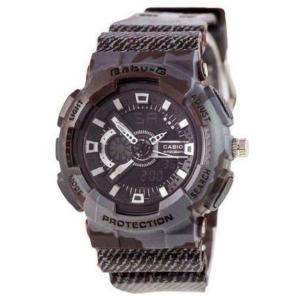 Электронные часы Casio Baby G GA-110 Jeans Dark Gray, спортивные часы Джи Шок бейби джи, реплика, качество!, фото 2