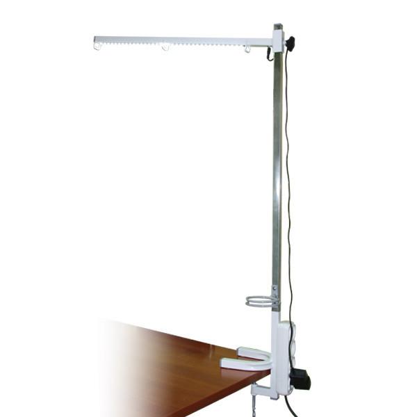 Кронштейн с подсветкой, фенодержателем и розеткой GROOMER высота 1 м длина 60 см (шт.)