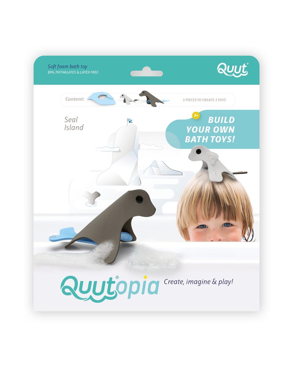 """Іграшка для ванної 3D """"ТЮЛЕНІ"""" (QUUTOPIA 171089)"""