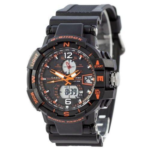 Электронные часы Casio G-Shock GG-1000 Black-Orange, спортивные часы Джи Шок, реплика, качество!