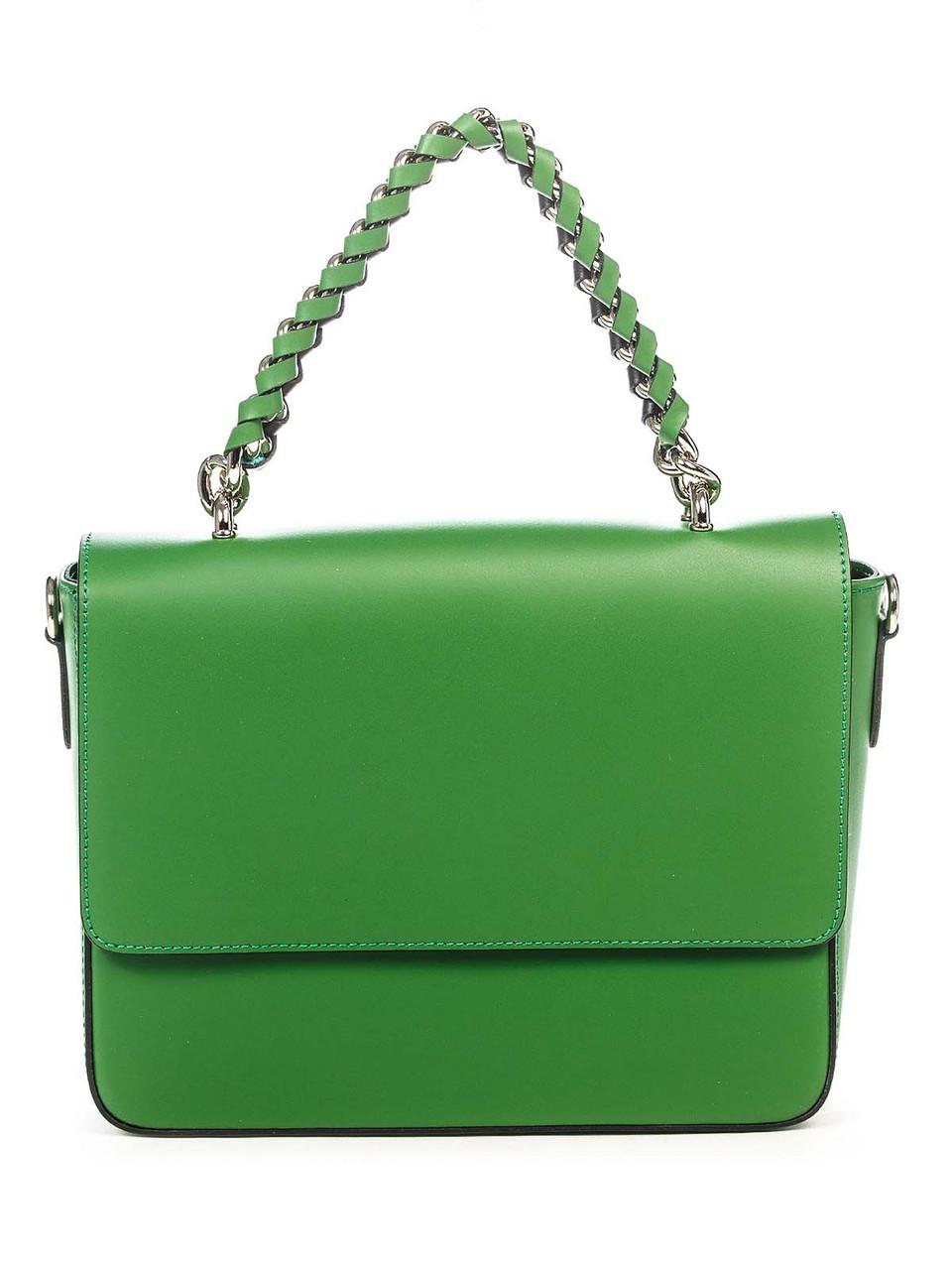 d228d8110c2b Кожаная сумка Italian Bags Клатч Italian Bags 8504_green Кожаный Зеленый