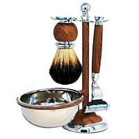 Набор для бритья Barbertools: помазок, бритва, чаша, подставка