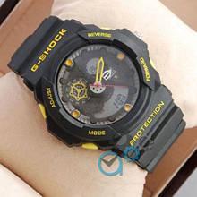Электронные часы Casio GA-300 Black/Yellow, спортивные часы Джи Шок, реплика