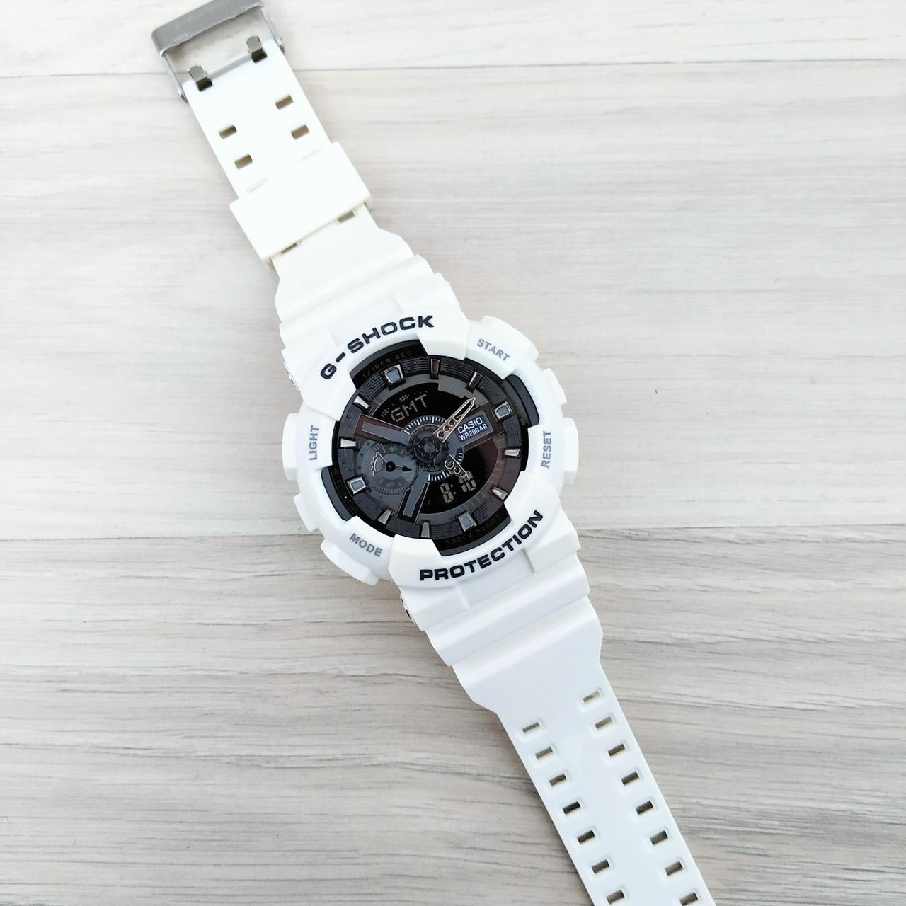 Электронные часы Casio G-Shock GA-110 White-Black New, спортивные часы Джи Шок, реплика
