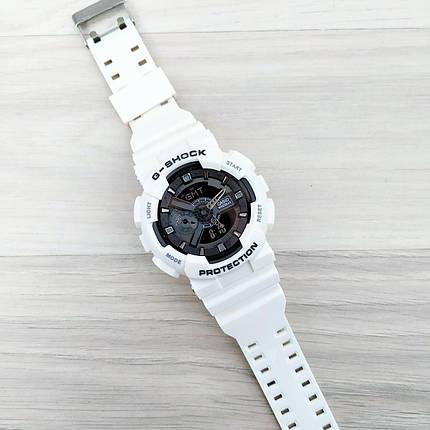 Электронные часы Casio G-Shock GA-110 White-Black New, спортивные часы Джи Шок, реплика, фото 2