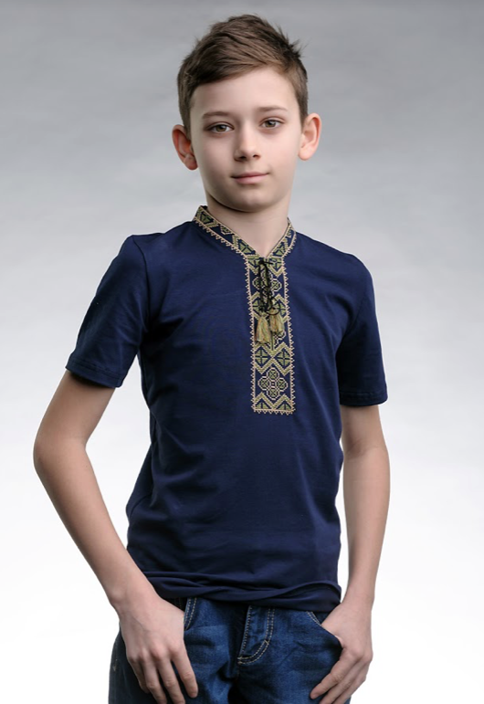 Вышиванка футболка для мальчика трикотажная