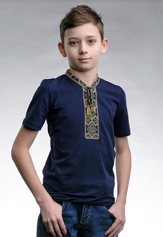 Футболка вишиванка для хлопчика трикотажний, фото 2