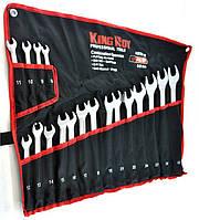 Набор ключей рожково-накидных 18 пр. KING ROY KRTRP-18 сумка