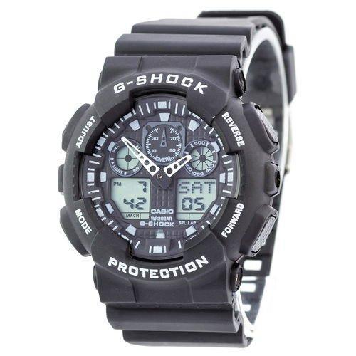 Электронные часы Casio G-Shock GA-100 Black-White, спортивные часы Джи Шок, реплика